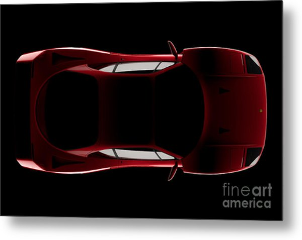 Ferrari F40 - Top View Metal Print