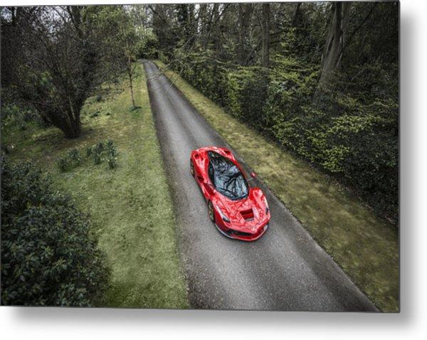 Ferrari Laferrari Country Drive Metal Print