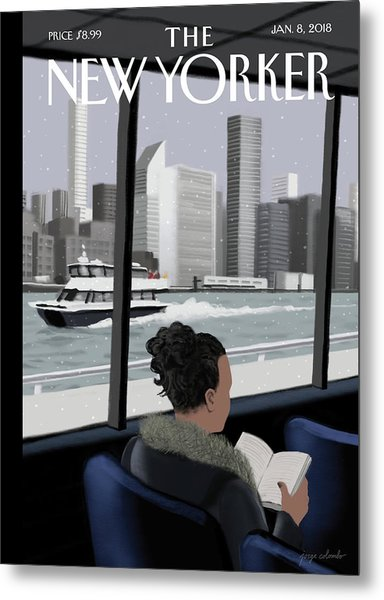 Ferried Across Metal Print