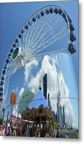Ferris Wheel Wonder Metal Print by Andrea Simon