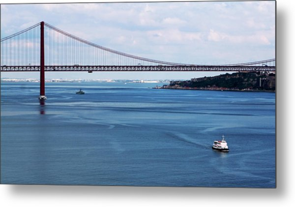 Metal Print featuring the photograph Ferry Across The Tagus by Lorraine Devon Wilke