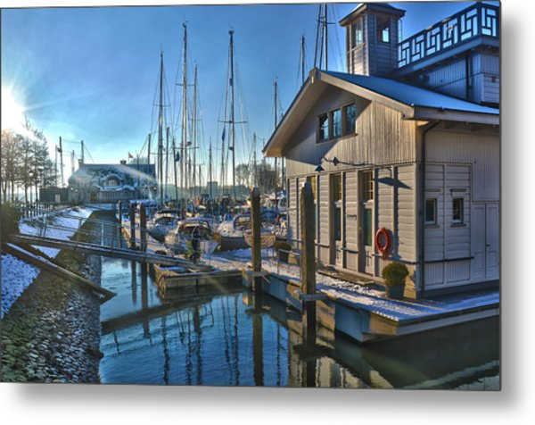 Ferry Harbour In Winter Metal Print