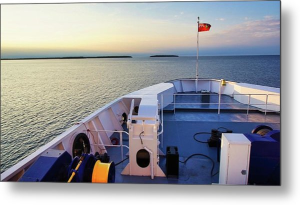 Ferry On Metal Print