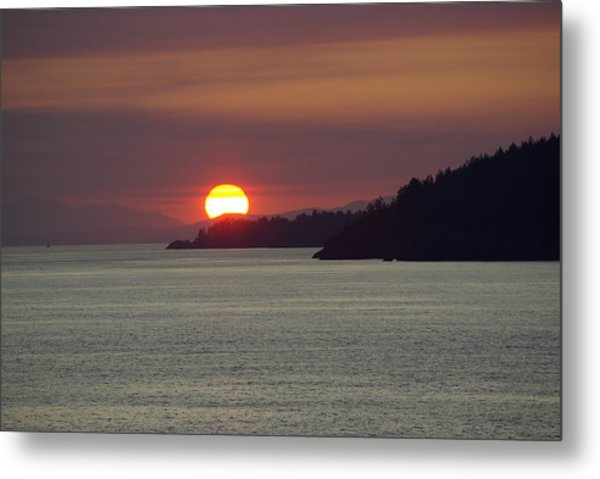 Ferry Sunset Metal Print