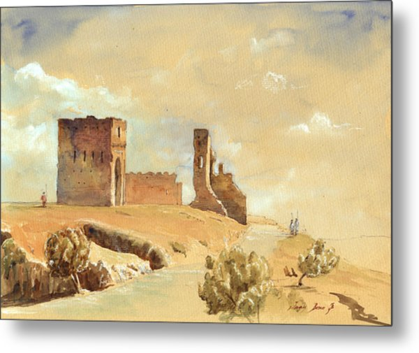 Fes Morocco Orientalist Painting Metal Print by Juan  Bosco