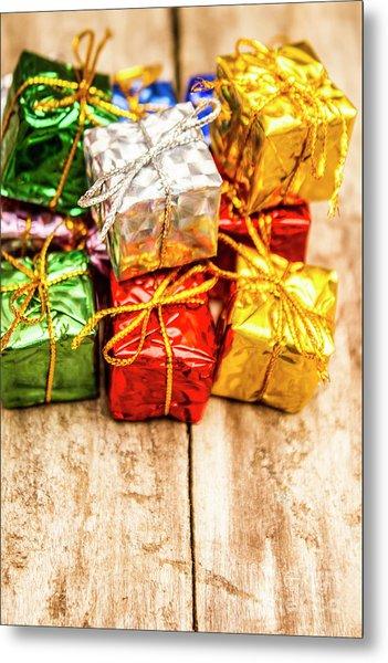 Festive Greeting Gifts Metal Print
