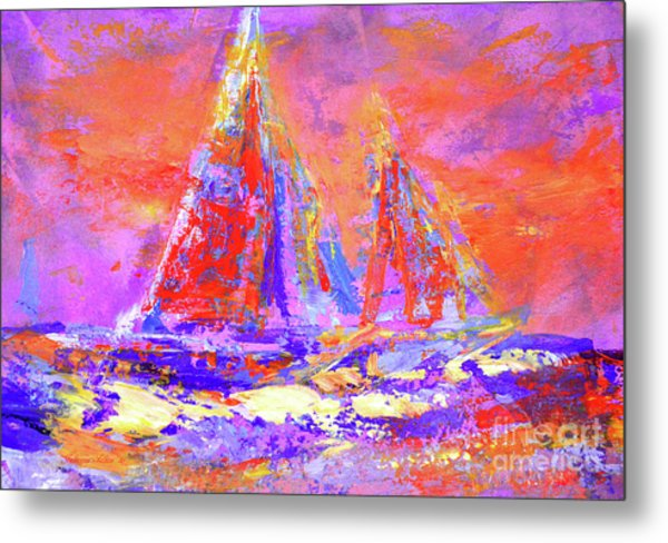 Festive Sailboats 11-28-16 Metal Print