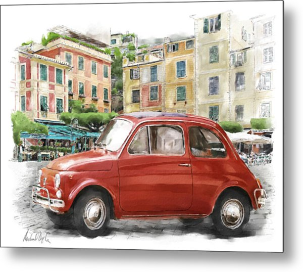 Fiat 500 Classico Metal Print by Michael Doyle
