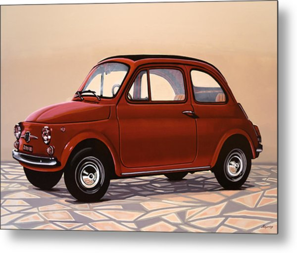 Fiat 500 1957 Painting Metal Print