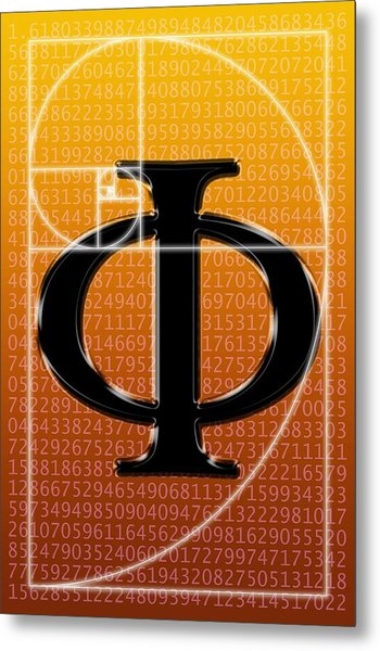 Fibonacci Spiral And Phi, Artwork Metal Print by Seymour