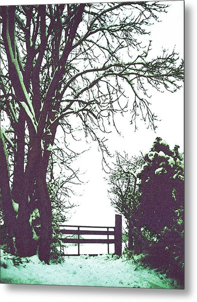Field Gate Metal Print