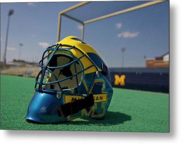 Field Hockey Helmet Metal Print