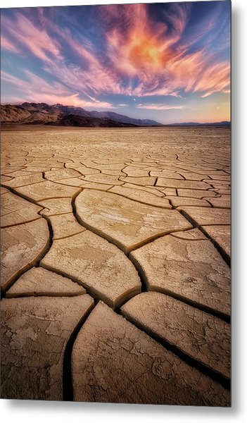 Field Of Cracks Metal Print