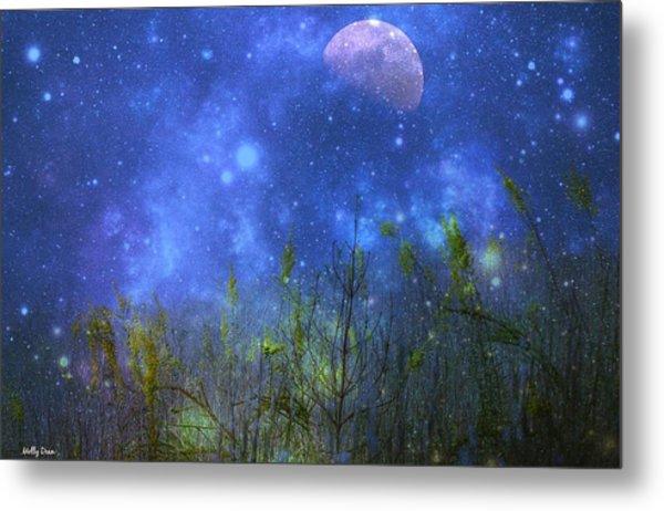 Field Of Fireflies Metal Print by Molly Dean