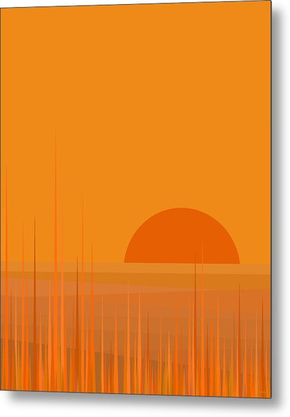 Field Sunset Metal Print