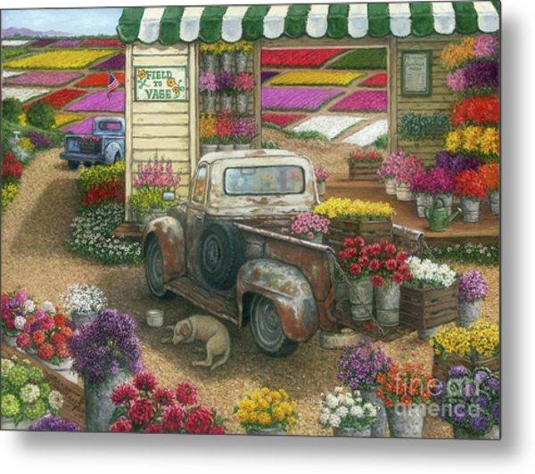 Field To Vase Painting By Janet Kruskamp