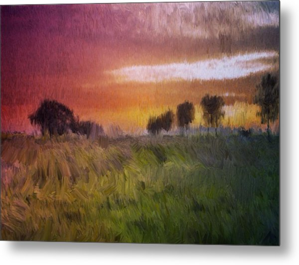 Fields Of Green Metal Print