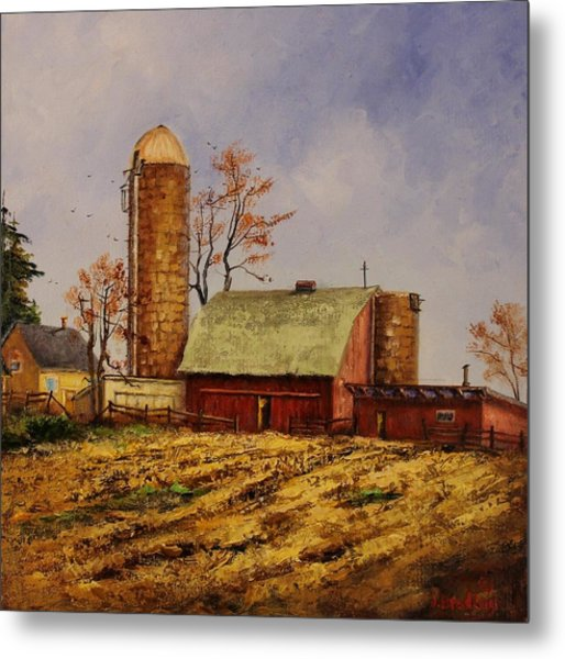 Fields Ready For Fall Metal Print