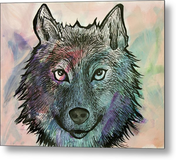 Fierce And Wise Metal Print