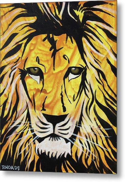 Metal Print featuring the painting Fierce Protector 2 by Nathan Rhoads