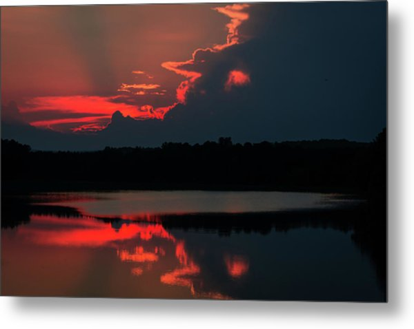 Fiery Evening Metal Print