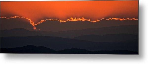 Fiery Sunset In The Luberon Metal Print