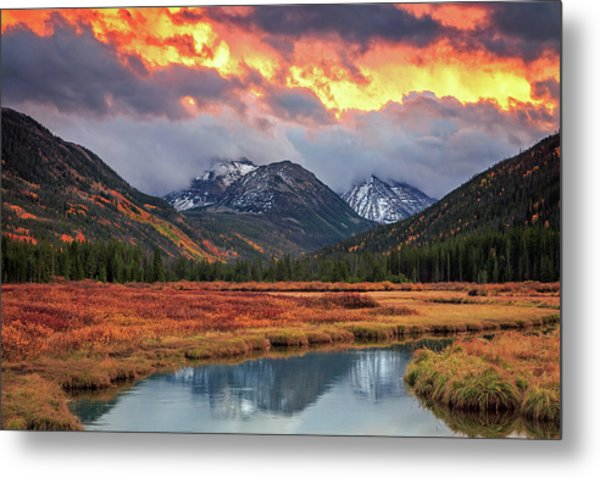 Fiery Uinta Sunset Metal Print by Johnny Adolphson