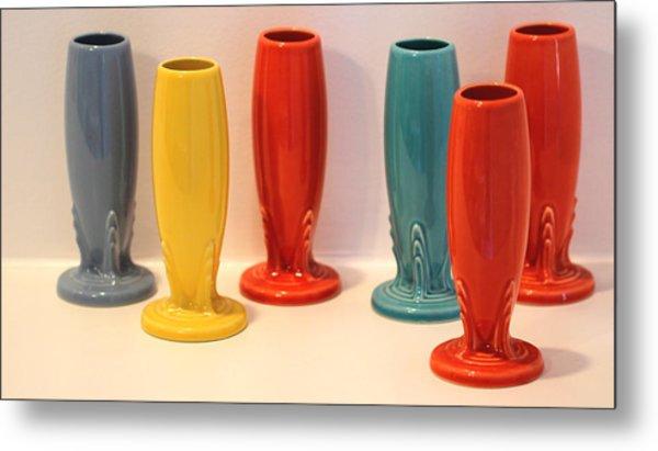 Fiestaware Bud Vases Metal Print