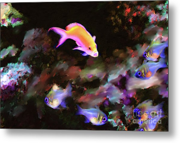 Fiesty Fish Metal Print
