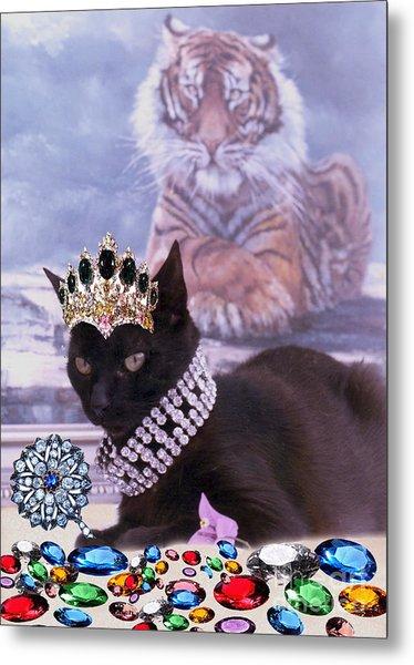 Fifi Diamonds Are A Kitten Best Friends Metal Print by Silvia  Duran