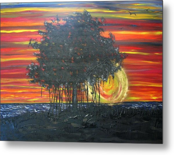 Fig At Sunset Metal Print