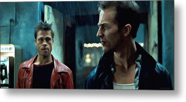 Fight Club #1 Large Size Painting Metal Print