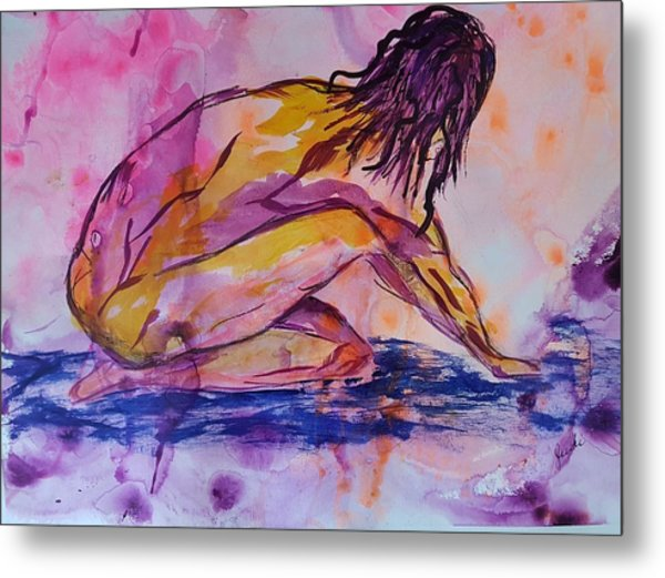 Figurative Abstract Nude 7 Metal Print