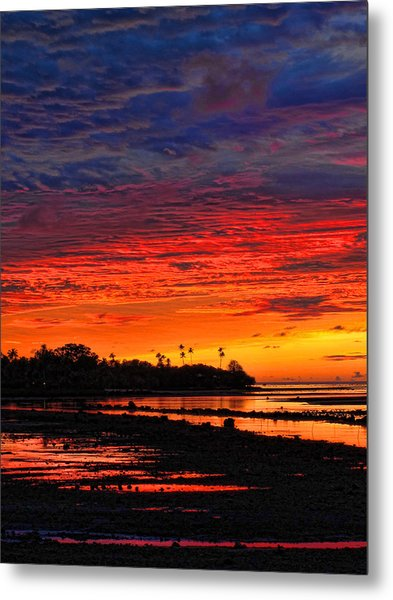 Fiji Sunrise Metal Print