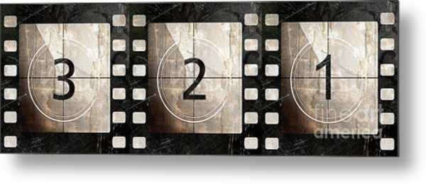 Film Leader Countdown Metal Print