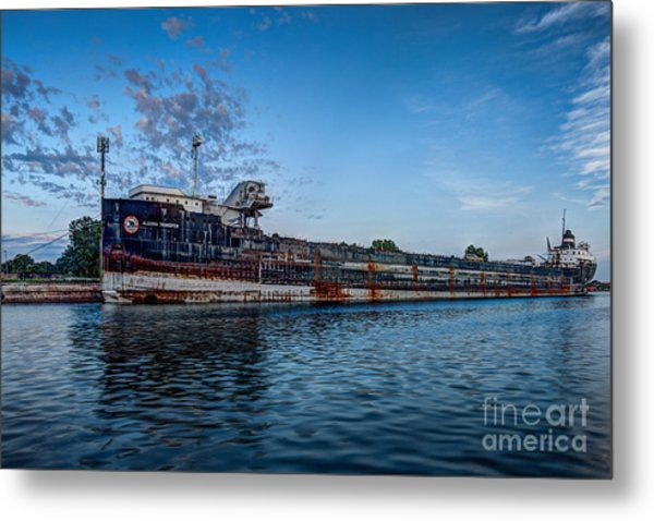 Final Mooring For The Algoma Transfer Metal Print