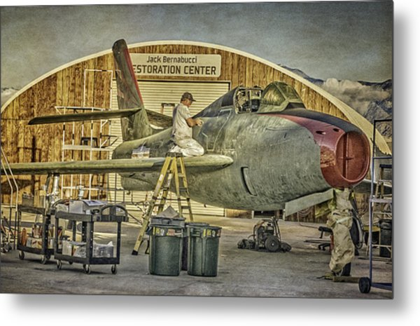 F-84f Thunderstreak Final Touches  Metal Print