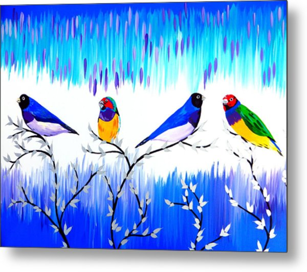 Finches Metal Print