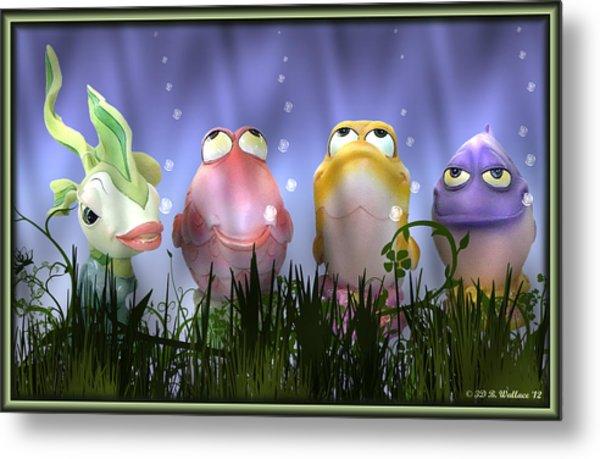 Finding Nemo Figurine Characters Metal Print