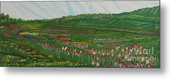 Finding The Way To You - Spring In Emmental Metal Print