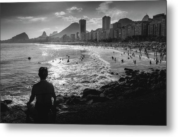 Fine Art Copacabana Rio De Janeiro, Brazil Metal Print