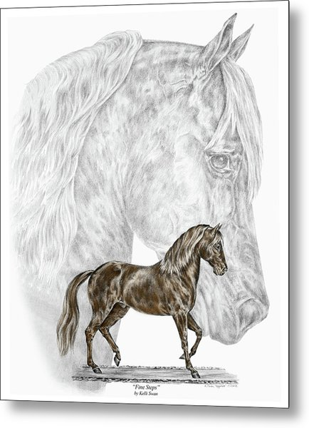 Fine Steps - Paso Fino Horse Print Color Tinted Metal Print