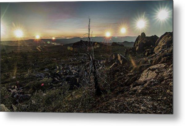 Finger Mountain Solstice Metal Print