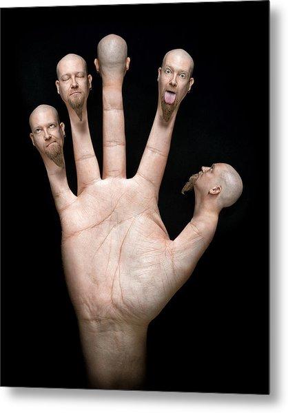 Finger Puppets Metal Print