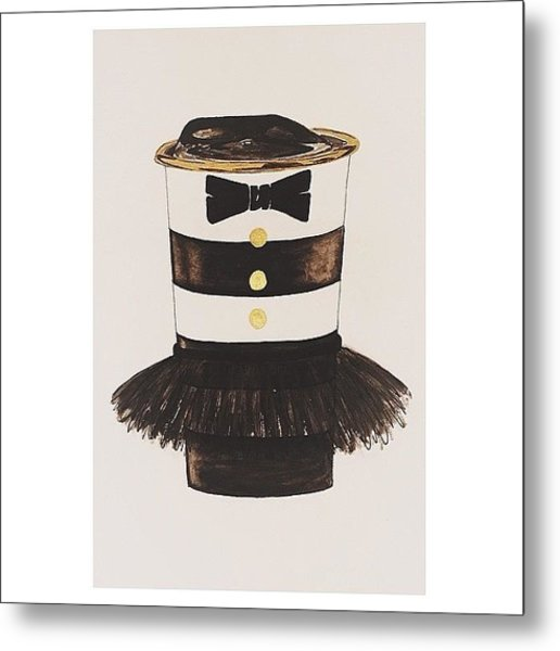 My #aliceandoliva #starbucks Painting Metal Print by Kathryn  Prantl