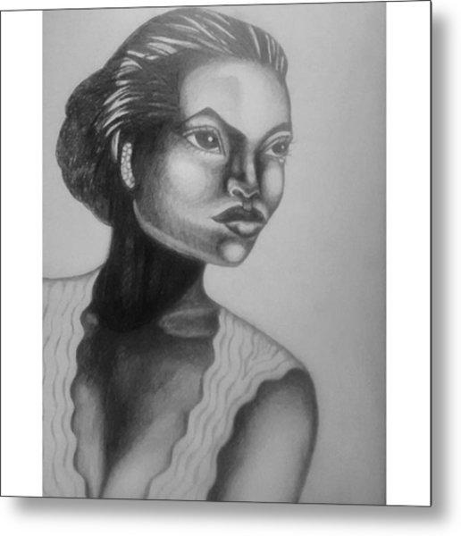 Finished My Eartha Kitt Portrait Metal Print