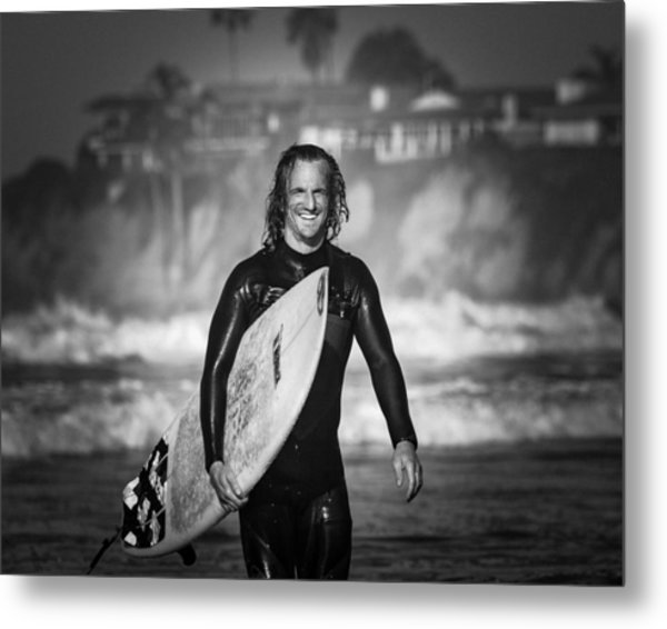 Finished Surfing Metal Print
