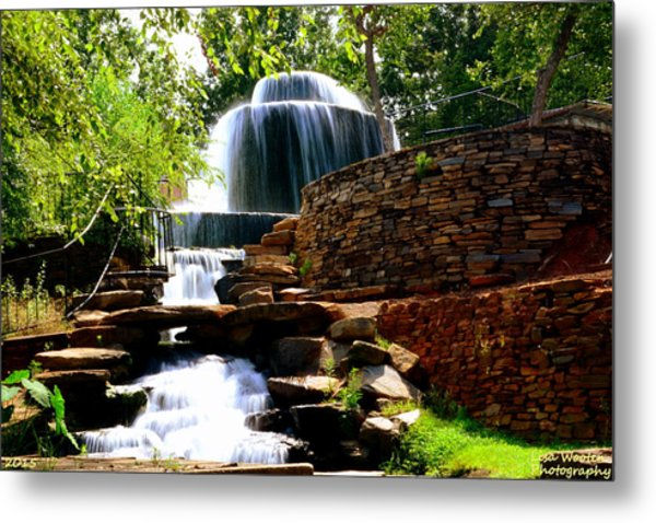 Metal Print featuring the photograph Finlay Park Columbia Sc Summertime by Lisa Wooten