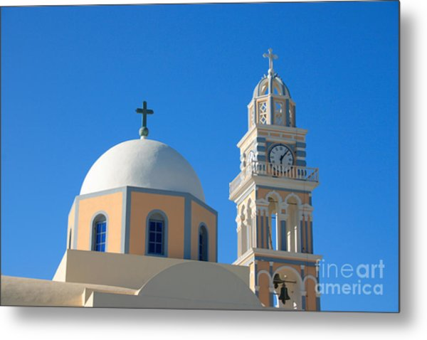 Fira Catholic Cathedral Horizontal Metal Print