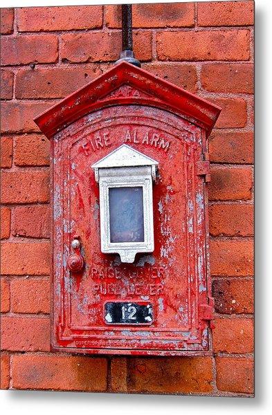 Fire Alarm Box No. 12 Metal Print by Richard Mansfield